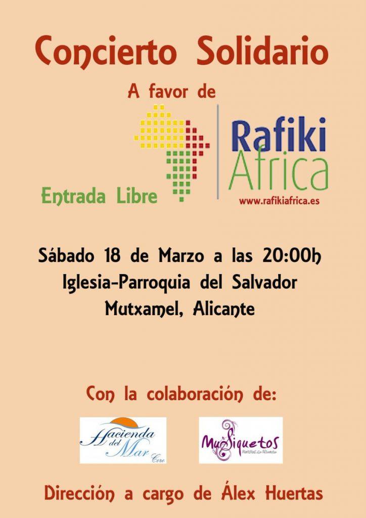 Concierto solidario a favor de Rafiki Africa Iglesia el Salvador Mutxamel
