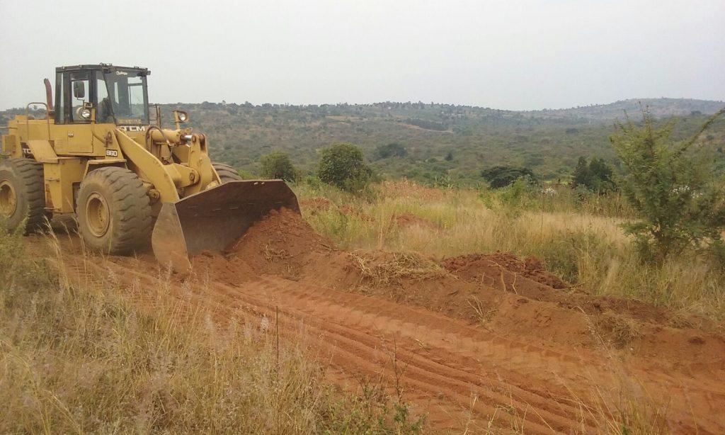 Comienzo de las obras escuela en Katwe